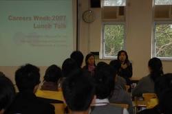 Lunch Talk--- Guset Speaker  Manager of Learning & Education, Price Waterhouse and Coopers Miss. Lee Pui Yee