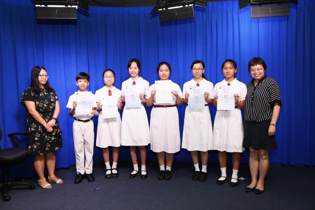 六位同學獲得中國中學生作文大賽(2017-2018)香港賽區旭日文學之星優異獎