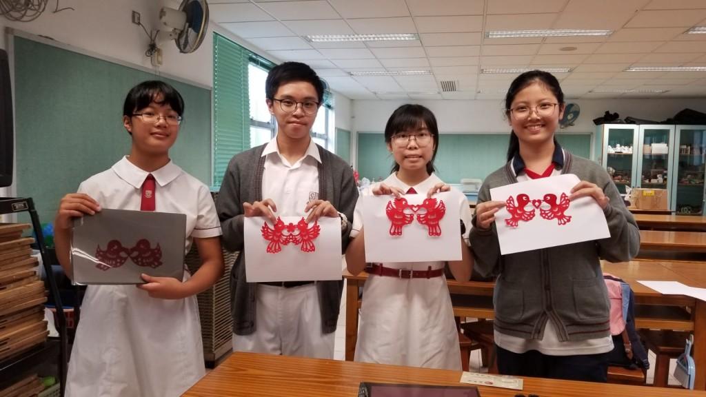 同學在傳統剪紙上加以創新