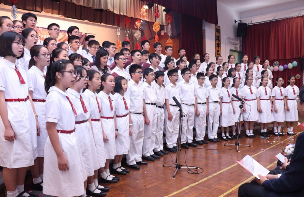 Hymn singing at the 55th Anniversary Thanksgiving Service