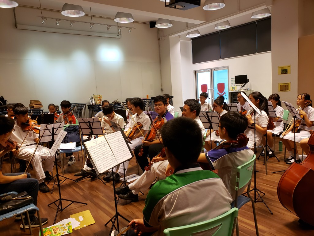 String Orchestra Practice Photo