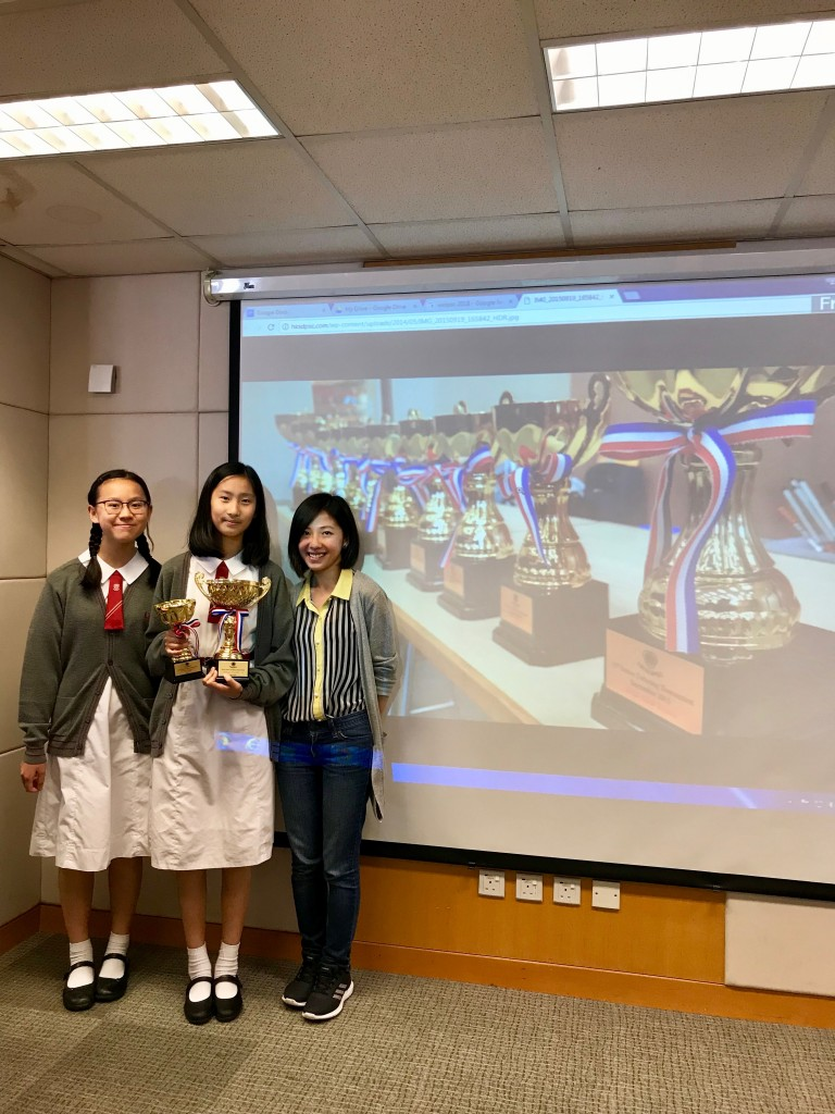 Kennis Cheung and Celina Deng took part in the Junior Individual Public Speaking Championships 2018